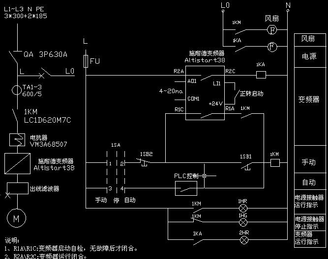 变频器和软启动线路图(手动和自动)