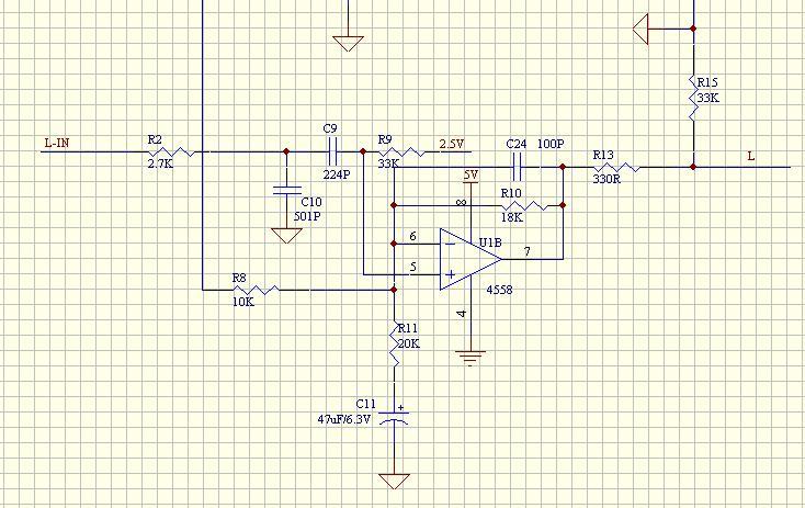 求助:下面的4558运放电路的失真怎么解决啊? - 控制师