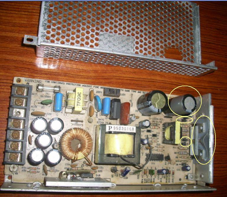 mw s-100-24直流开关电源烧