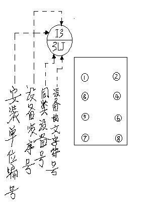 下面是屏后接线图电流继电器编号的例子