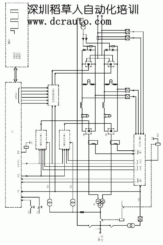 整流变压器tm付边采用双绕组的形式,一组y接法,连到一整流桥a组,另一