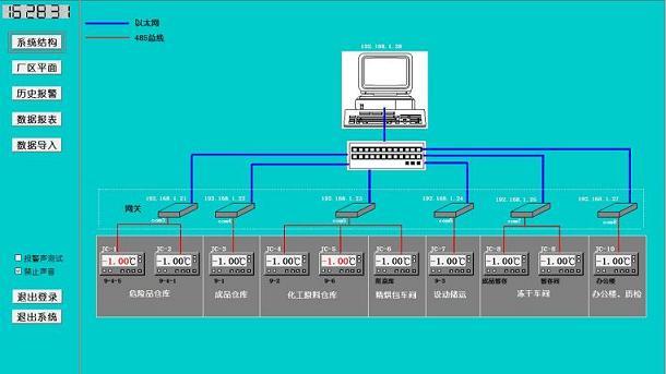紫金桥软件构建冷库温度监控报警系统