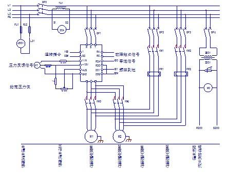 220v电接点压力表控制水泵实物接线图